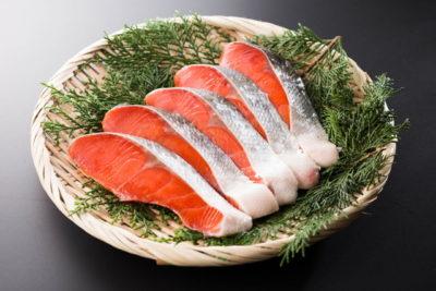 並べられた鮭