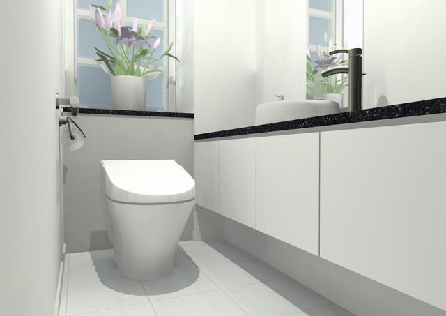 花が飾られたトイレ