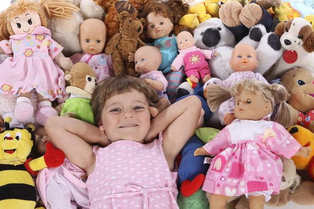 人形と女の子