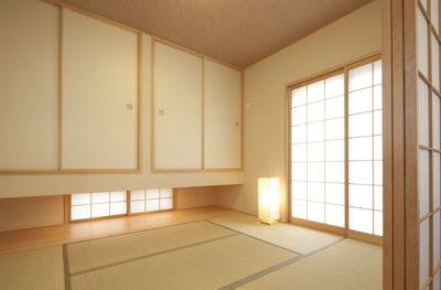 ライトが置いてある和室