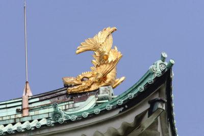 名古屋城天守閣の金シャチ