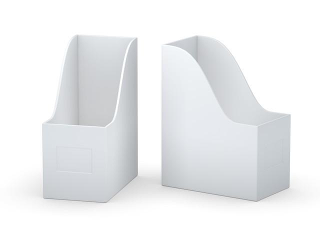 白いファイルボックス