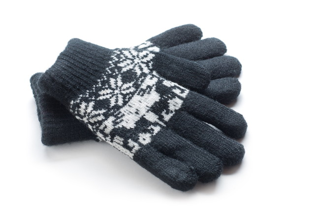 ウール素材の手袋