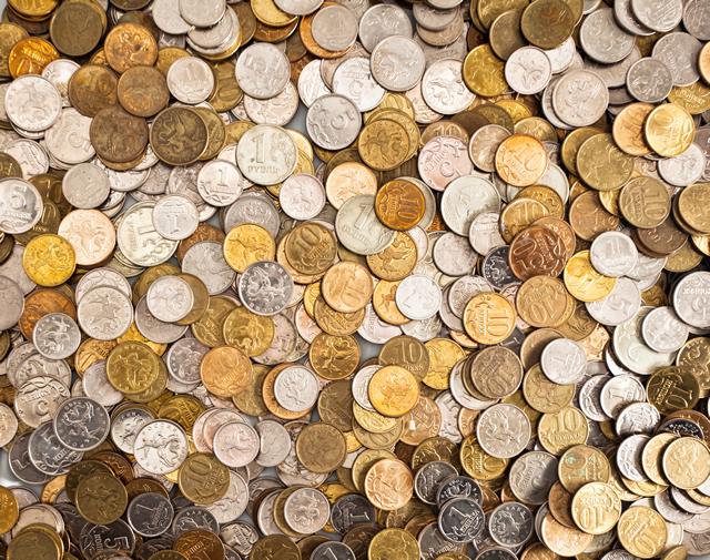 大量の小銭 1円・5円・10円・100円