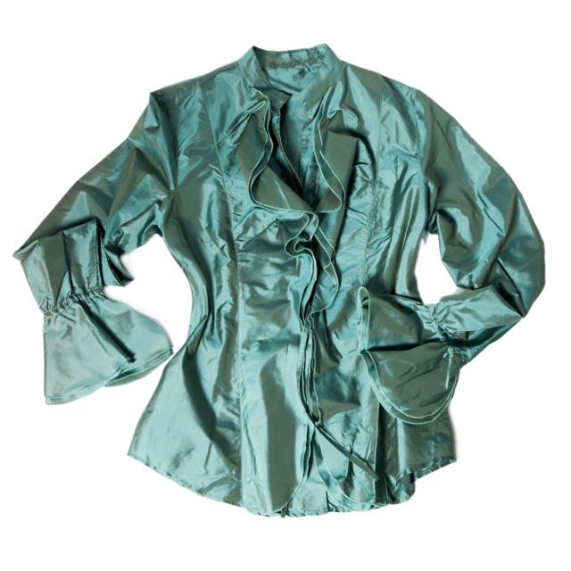 シルクの服,グリーン