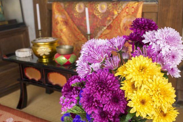 仏壇 菊の花