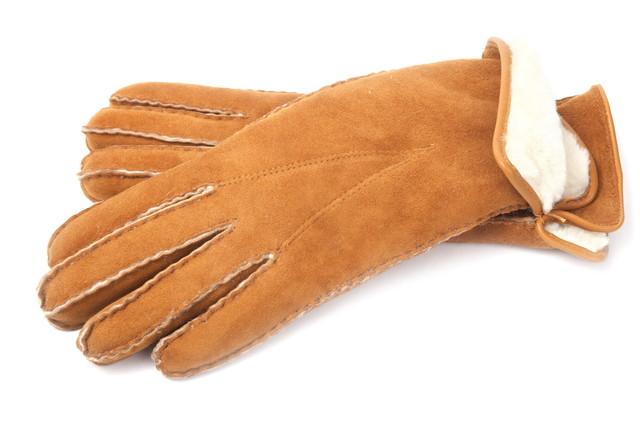 スエードの手袋