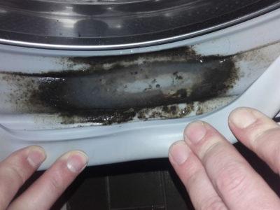ゴムパッキンの汚れ