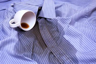 シャツ コーヒー 染み