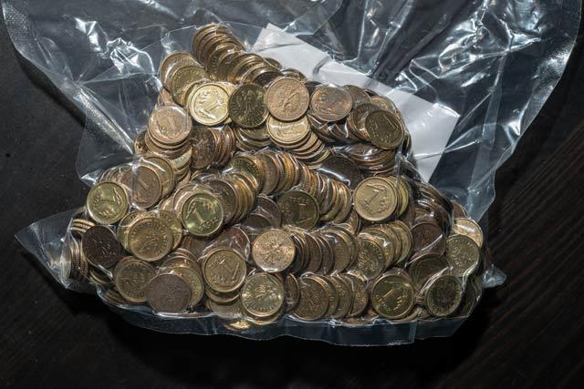 大量コイン