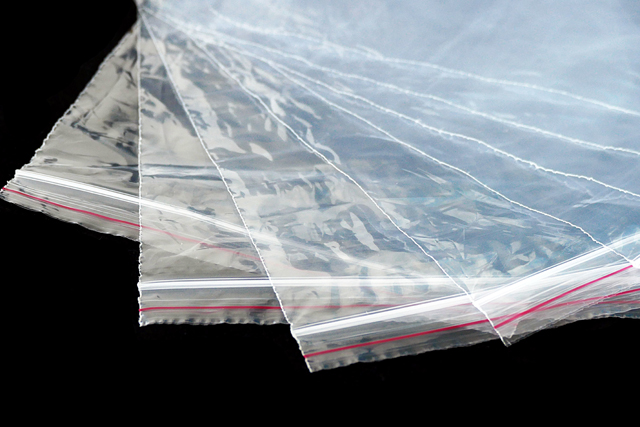ジップ付きビニール袋