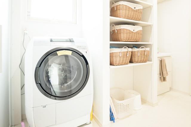 キレイな洗濯機置き場