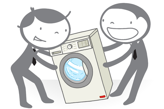 洗濯機 運ぶ イラスト