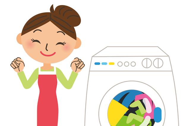 洗濯機 喜ぶ女性 イラスト