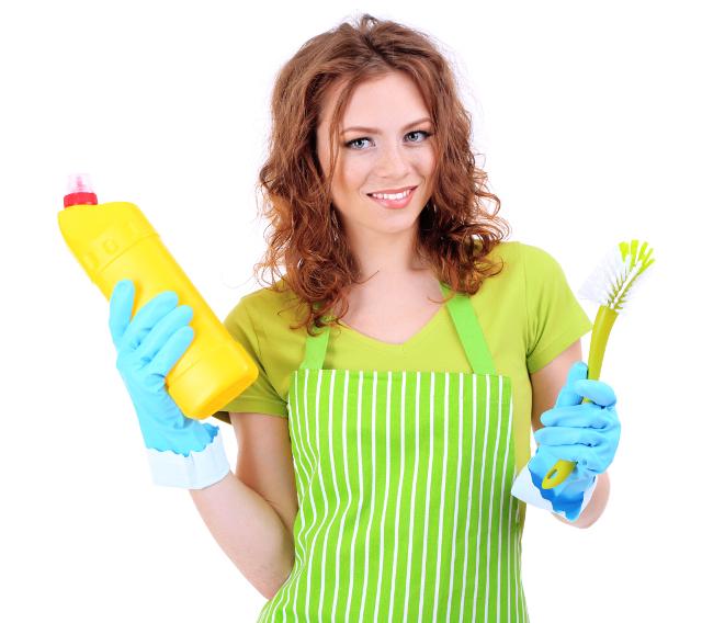 洗剤,ブラシ,女性,掃除