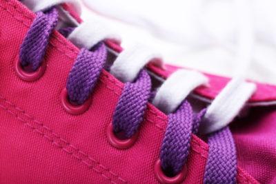 靴紐のアップ
