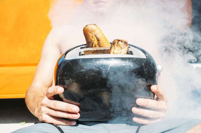 トースター,煙