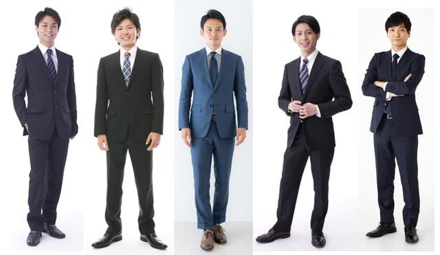 スーツの男性5人