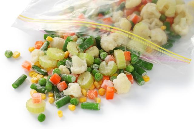 刻んで冷凍された野菜