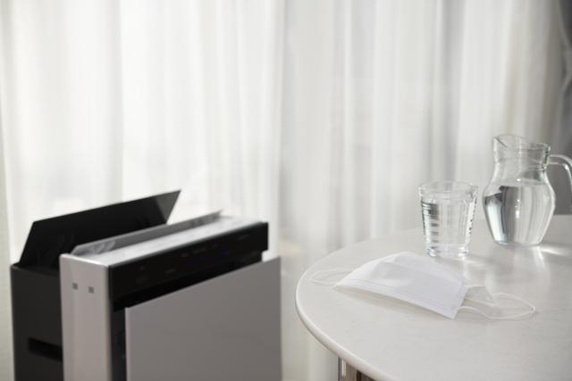 空気清浄機のある部屋