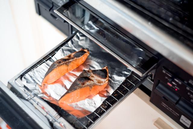 鮭 魚焼きグリル アルミホイル