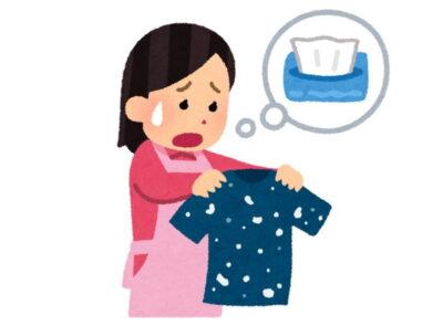 ティッシュを一緒に洗濯してしまった時