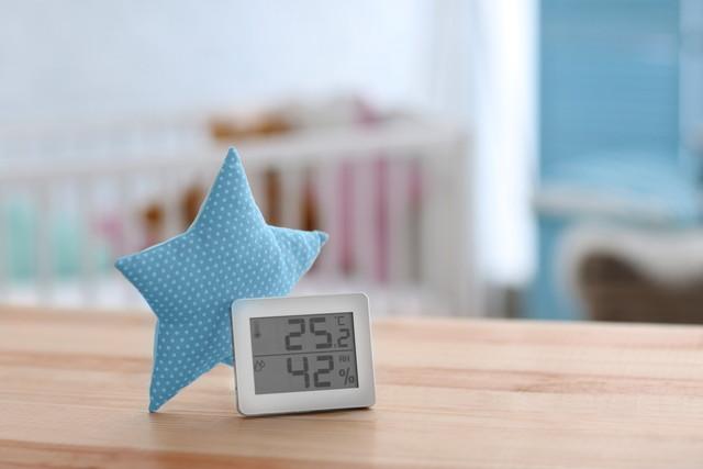 部屋の湿度計