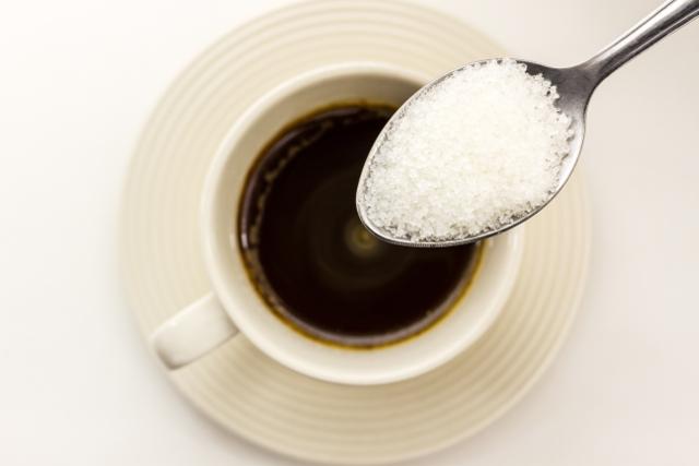 砂糖とコーヒー