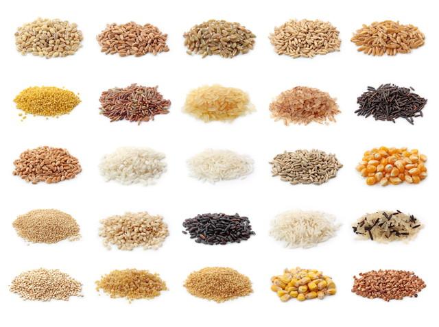 いろんな米類と雑穀類