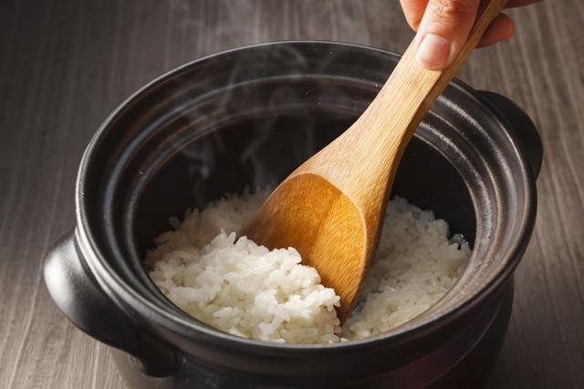 土鍋で炊いたごはん