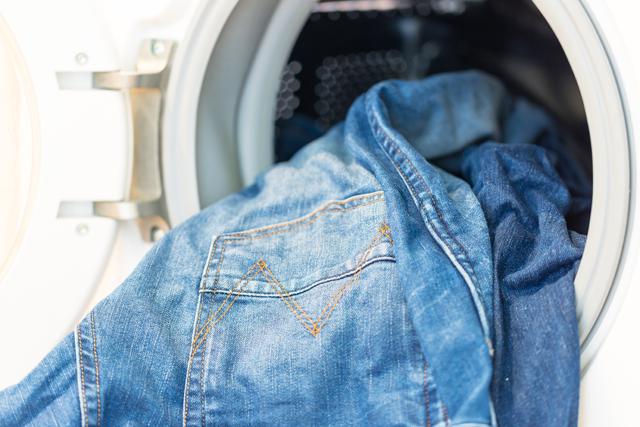洗濯機とジーンズ
