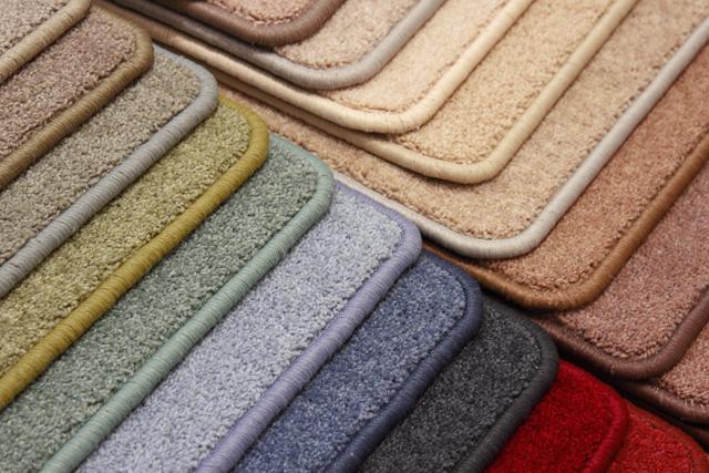 色々な色のカーペット