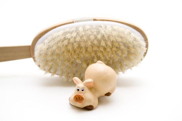豚毛のブラシ