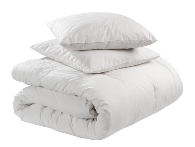 羽毛布団と枕