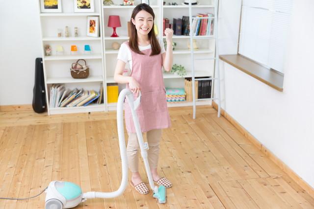 掃除を楽しむ人