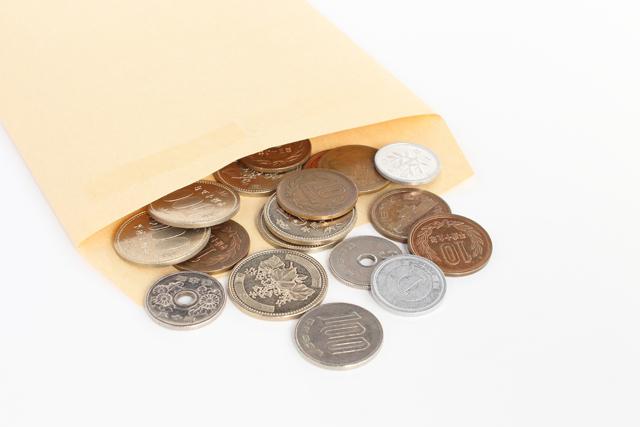 封筒 小銭