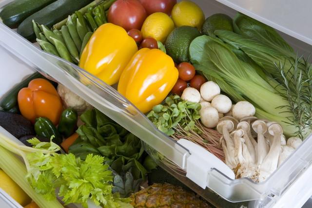 野菜が入っている野菜室