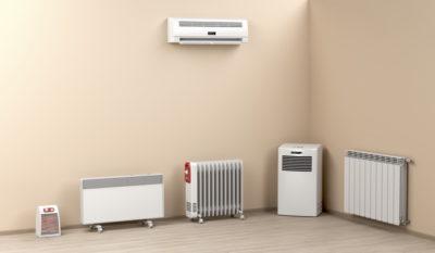 暖房器具が置かれている