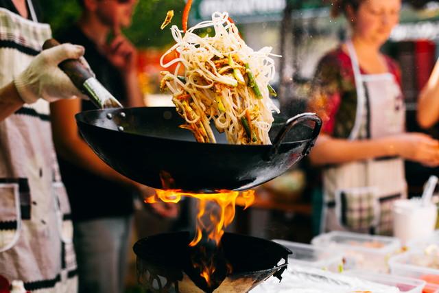 中華鍋で料理
