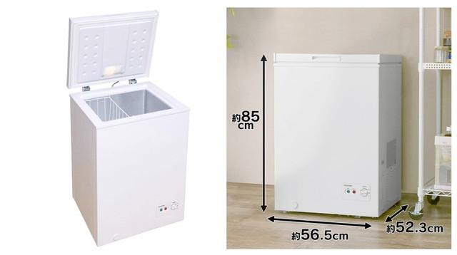 アイリスオーヤマ 冷凍庫 100L 1ドア 直冷式 PF-A100TD-W