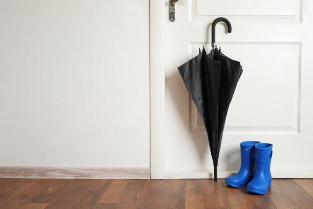 玄関にある傘