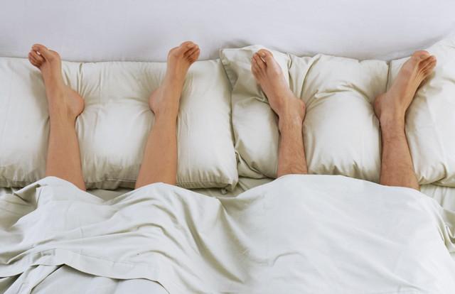 二人で足枕