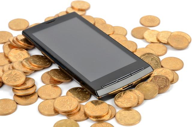 携帯電話と小銭