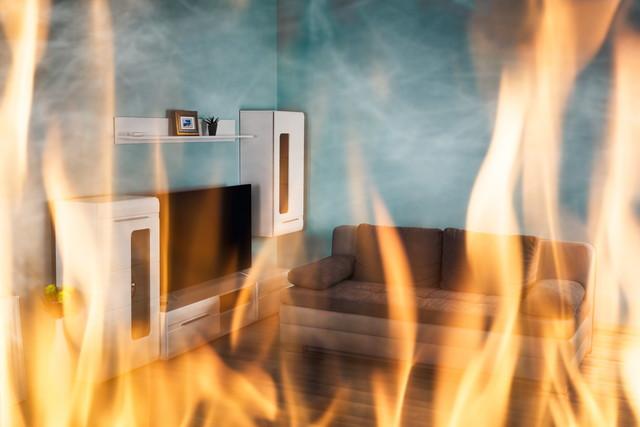部屋の火事