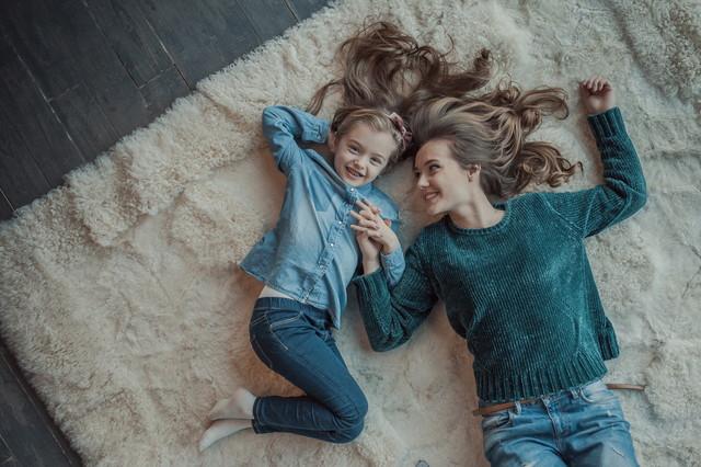 絨毯と家族