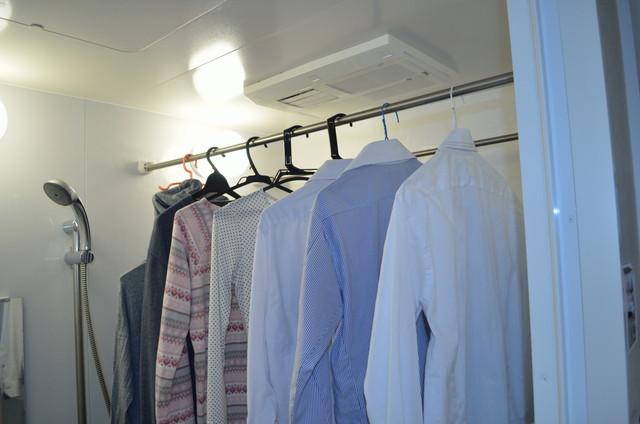 浴室と洗濯物