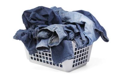 デニム生地の洗濯