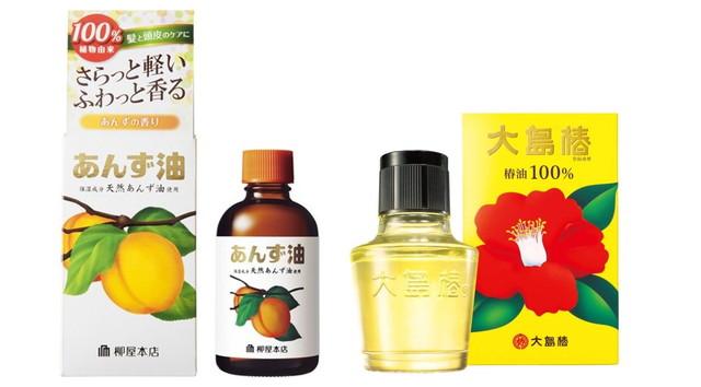 大島椿の椿油と柳屋あんず油