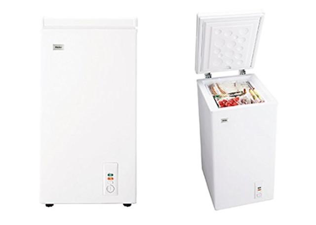 ハイアール 66L チェストタイプ 冷凍庫(フリーザー)直冷式 ホワイトHaier JF-NC66F(W)
