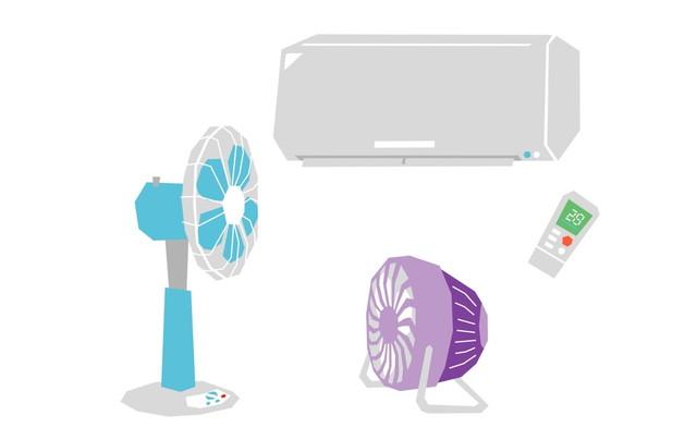 サーキュレーターと扇風機とエアコン